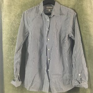 J. Crew Blue and White Button Down-Medium
